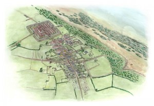 artists-impression-of-Maryport-Roman-fort-and-settlement-©OxfordArchaeologyLtd-commissioned-by-HadriansWallTrust
